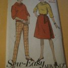 Vintage Advance Sew easy Sewing Pattern Junior Misses  Sports Separates Size14