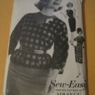Vintage Advance Sewing Pattern 3082 Misses size 14 Dress & Overblouse