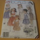 McCalls 3262 Vintage Sewing Pattern 80s Girls Jumper Size 4 - 5 - 6