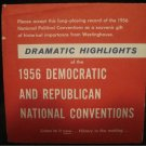 "1956 National Political Conventions Historical Westinghouse Democratic Republican 7"" Record RARE"