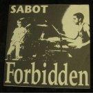 "SABOT Forbidden  7"" Vinyl Record Punk Live Budapest Hungary 1991 Punk"