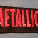 Metallica-Rock / Metal Band Sew On Patch  (Black/Red)