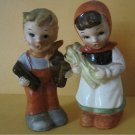 Vintage Artmark Salt & Pepper Set Boy/Girl  (Hummel style figurine)