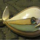 Vintage Enamel Whale Pin --Fun Chubby,Adorable (fashion jewelry) FREE SHIPPING