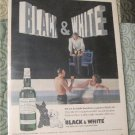 Vintage Ad Black & White Magazine Advertisement for Scotch Whisky