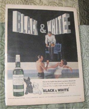 Vintage Ad Black & White Magazine Advertisement for Scotch Whisky