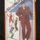 VINTAGE SIMPLICITY Winter  SKI SUIT, Jacket ,Pants ,Leg Warmers  SEWING PATTERN 9785
