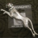 Wild Cat Cougar (Panther) Lapel Fashion Pin brooch By Jordache   New (Jewelry)