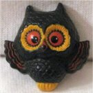 Retro Vintage Costume Jewelry Cute Vintage Hallmark Owl Pin ,Big Eyes
