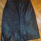"Ladies Vintage Sexy Black 100% Leather Skirt  for a 26"" waist (High Waisted)"