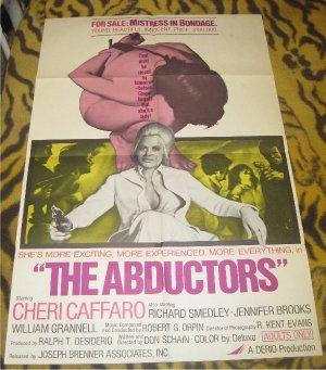 The Abductors Original Movie Poster Vintage 1972 Cheri Caffaro (Bondage)