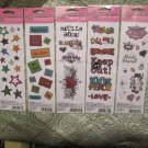 Doodle Bank Glitter Rub-On Transfers(Preteen/Teen)5 Packs all Differant! Craft for Kids