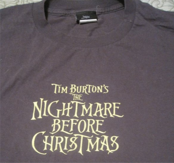 Tim Burton's The Nightmare Before Christmas 2XL /  Size XXL (Headless Jack,Bats)
