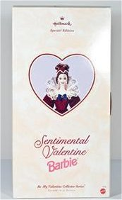 Beautiful Hallmark Special Edition SENTIMENTAL VALENTINE BARBIE NIB Valentines Day Doll