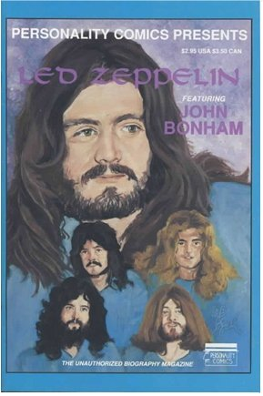 Led Zeppelin Featuring John Bonham Personality Comic Book Unauthorized Biography