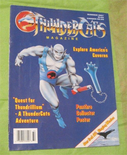 Vintage THUNDERCATS MAGAZINE #1987 SUMMER Near Mint  (w/ Panthro Poster)