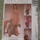 McCall's Pattern 2983 Misses /Miss petite dress in two lengths Top,Skirt Pants 18-20-22