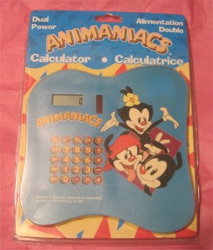 Animaniacs- (Cartoon)Warner Bros. RARE Calculator 1998 SEALED.WORKS!!