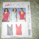 McCall's M6078 Easy Draped Tops Trendy Sleeveless (Xsm-Sml-Med)