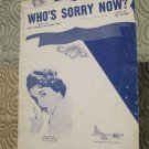 Connie Francis - Who's Sorry Now  Sheet Music
