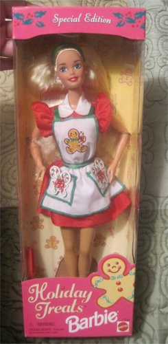 Barbie- Holiday Treats Christmas Cookie baking Doll Sealed New in Box