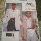 Vintage Vogue 2373 DKNY Misses Jacket Blazer Pattern sz 6, 8, 10