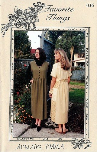 Favorite Things 036 Sewing Pattern For  Soft Flowing Comfortable Dress or Jumper 'Always Emma""