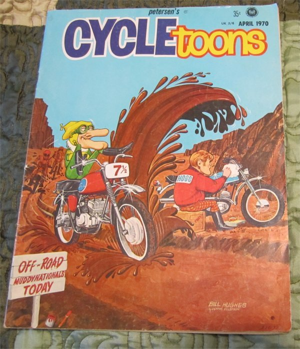 Vintage 1970 peterson's CYCLETOONS Vintage B&W Very Rare Motorcycle humor /comic FREE SHIPPING
