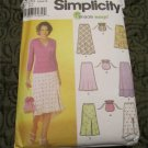 Simplicity 7090 Misses Pull-on Bias Skirt w/ length variation. Size  4,6,8,10 and Purse