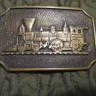 VINTAGE Train Belt Buckle Solid Brass BTS  Made in USA