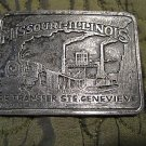 Vintage Missouri Illinois RR Transfer STE .Genevieve Train /Railroad belt Buckle