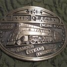 Vintage The Dixie Flaggler Engine 1008 Famous Steam Engine Railroad Solid Brass Belt Buckle