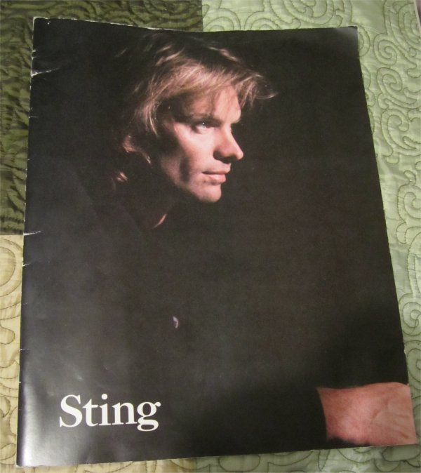 STING 1987-88 NOTHING LIKE SUN Tour Concert Program Book