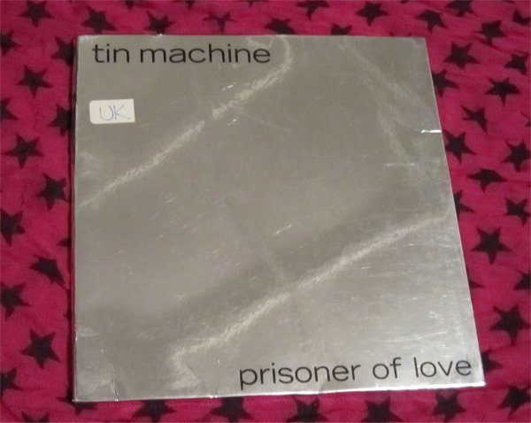 "TIN MACHINE David Bowie Prisoner Of Love 45 vinyl Record 7"" & 4 Postcards- 1989"