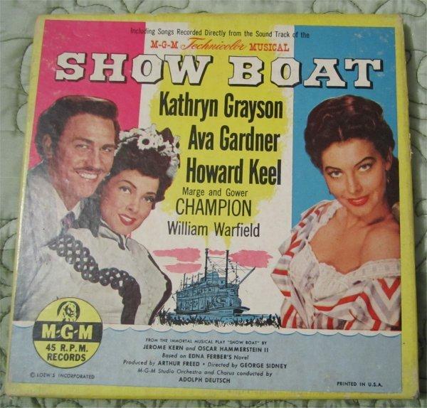 "Vintage Soundtrack Show Boat MGM 45 rpm Records Box Set 7"" record Set"