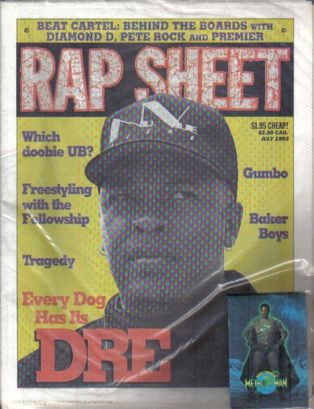 RAP SHEET July 1993 Dr. DRE + Meteor Man #1 Comic & Pin