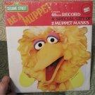 "Vintage Sesame Street Be A Muppet  45 vinyl 7"" Record w/ 2 Muppet Masks 1971"
