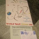 Official Julian Lennon 1986 concert book Tour Program w/ticket stub Finger Lakes NY (Tourbook)