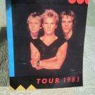 Official THE POLICE Syncronicity Tour 1983 Souvenir Concert Program Book (tourbook)