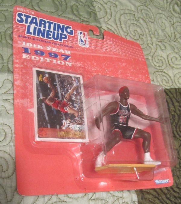 RARE!! Starting Lineup 1997 NBA Carded Dennis Rodman (Chicago Bulls) KENNER