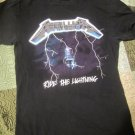 Heavy Metal Rock Shirt  Ride the Lightening Size Adult Small