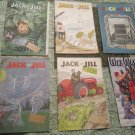 6 Vintage Jack & Jill Childrens 50's  Magazine/Books (Paper Dolls,Puzzles,Stories)