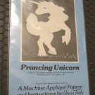 Prancing UNICORN - APPLIQUE WALL QUILT Sewing Machine PATTERN