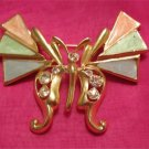 Geometric Winged Butterfly Unique Vintage Pin FREE SHIPPING