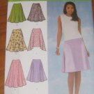 Simplicity 4592 Misses Skirt with Hemline and Length Variations size 6,8,10,12
