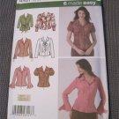 Simplicity 4487 Misses Blouse Sewing Pattern Size 8,10,12,14,16 uncut