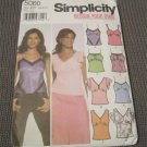 Simplicity 5060 Misses Design your own Tops Sewing Pattern Size 4,6,8,10