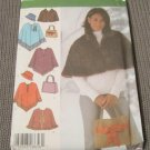 Simplicity 4785 Sewing Pattern Misses Size XS,S,M Capelet Poncho Hat Bag Purse