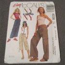 McCall's 4038 Sewing Pattern Junior Drawstring Cargo Pants Straight Skirt 2 lengths .pattern uncut