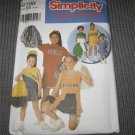 Simplicity 9798 Girls Cheerleader Outfit Costumes Top & Pleated SkirtSize 8-12 pattern